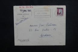 ALGÉRIE - Type Decaris Surchargé EA Sur Enveloppe De Tlemcen En 1962 Pour La France - L 53546 - Algérie (1962-...)