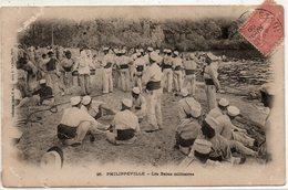 PHILIPPEVILLE....les Bains Lilitaires....attention Carte Legerement Abimee En Haut A Gauche  Voir Scan - Algérie