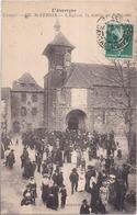 15 L'Auvergne - Cantal - 376 -SAINT-CERNIN - L'Église, La Sortie De La Messe - Très Animée - Autres Communes