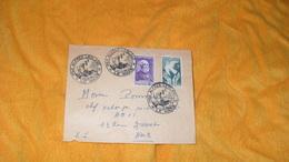 ENVELOPPE ANCIENNE DE 1947.../ CACHETS PRIX ALFRED LEBLANC..LE MANS...TIMBRES HENRI BECQUEREL ET CONFERENCE DE PARIS.. - Postmark Collection (Covers)