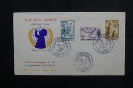 TURQUIE - Enveloppe FDC En 1961 - Unicef - L 53554 - 1921-... République