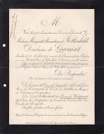 PARIS Marguerite De ROTHSCHILD Duchesse De GRAMMONT 50 Ans 1905 Hôtel Rue De Chaillot - Décès