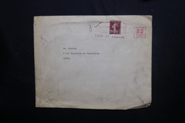 FRANCE - Enveloppe De Paris Pour Paris En 1924, Affranchissement Semeuse 20ct + Mécanique 25ct - L 53555 - 1921-1960: Période Moderne