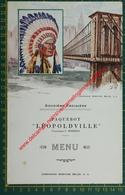 Vapeur Léopoldville - 24 Juin 1934 - Compagnie Maritime Belge - CMB - Menu - Menus