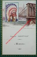 Paquebot Albertville - 28 Novembre 1934 - Compagnie Maritime Belge - CMB - Menu - Menus
