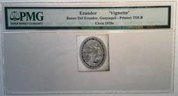 BANCO DEL ECUADOR GUAYAQUIL ~ 1870 Thomas De La Rue Banknote Essay CONSTITUTION Mythology(banknote PMG Billet De Banque - Equateur