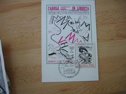 Italie Italia Marinetti Liberte Parole  Cm C M Carte Maximum - Maximumkaarten