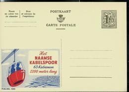 Publibel Neuve N° 1520  ( Le Téléphérique De Namur 63 Cabines - 2200 Mètres De Trajet) - Entiers Postaux