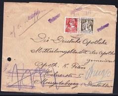 1936 PAPIER JOURNAL BRUGES > MAGDEBURG - Yv. 336/37 - GRIFFE RETOUR - Parti Sans Laisser D'adresse - Sehe Rückseite - Belgium
