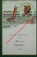 Paquebot Albertville - 18 Novembre 1934 - Compagnie Maritime Belge - CMB - Menu - Menus