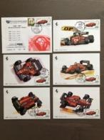"""Busta E Serie 5 Cartoline Auto F1 Ferrari 1983/1987 Annullo """"1^ Mostra Scambio Automodellismo"""" Vignola (MO) 27-11-1993 - Grand Prix / F1"""