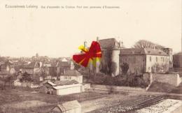 ECAUSSINES LALAING - Vue D'ensemble Du Château Fort Avec Panorama D'Ecaussines - Ecaussinnes