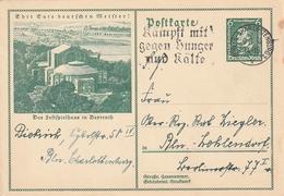 """Deutsches Reich / 1933 / Sonderpostkarte Mi. P 249 Masch.-o Berlin-Charlottenburg """"Kaempft Mit Gegen Hunger .."""" (AE94) - Germany"""