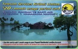 """KIRIBATI  -   Prepaid  -  $20 """" Telecom Service Kiribati Limited """" - Kiribati"""