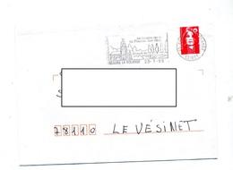 Lettre Flamme Beaune La Rolande Crypte Piscine - Marcophilie (Lettres)