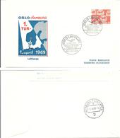Norway 1969 Oslo Hamburg First Trip Dayly Flights LN 215 City Yet, Cancelled 1.4.1969 - Brieven En Documenten