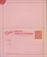 Chile Postal Stationery Ganzsache Entier Carta-Tarjeta Para El Interior 2 Centavos Colombus Colon Kartenbreif (Unused) - Chile