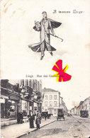 A Travers LIEGE - Rue Des Guillemins - Avec Tramways, Attellage Et Commerces + Petite Animation - Liege
