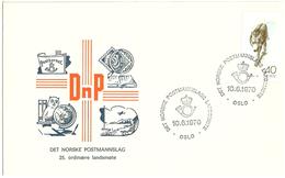 Norway 1970 The Norwegian Postman Association, Cancelled Oslo 10.6.70  - Special Cancellation - Brieven En Documenten