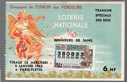 Billet De LOTERIE NATIONALE Tranche Spéciale Des Rois 1/10e 1963 (PPP21595) - Billets De Loterie