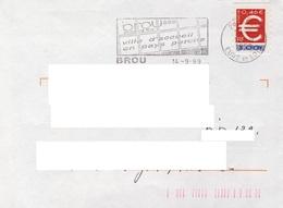 ADH 24 Flamme De BROU   Cachet Du 14/09/1999 - Marcophilie (Lettres)