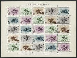 TURQUIE BLOC FEUILLET Cote 22.5 € N°10 Neufs ** MNH. Jeux Olympique De Rome En 1960 (Roma Olimpiyatlari) - 1921-... République