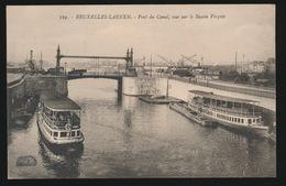 LAEKEN  PONT DU CANAL VUE SUR LE BASSIN VERGOTE - Laeken