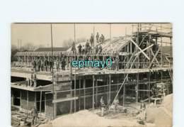 42 - ROANNE - CARTE PHOTO De La Construction De L'arsenal - Maçon - échaffaudage - Roanne