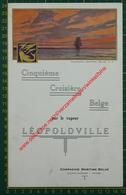 Vapeur S.S. Léopoldville - Cinquième Croisière Belge - 11 Juin 1933 - Compagnie Maritime Belge - CMB - Menu - Menus