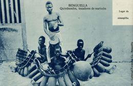 Cpa ANGOLA - BENGUELLA - ETHNIC, Quimbundos, Tocadores De Marimba, TAVARES & Cia - Photo-Card - Angola