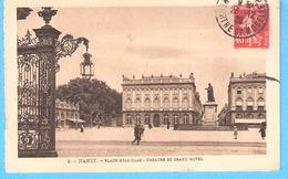 Nancy-1926-Place Stanislas-Théâtre-Grand Hôtel-exp.vers Auxonne-Régiment D'Artillerie Divisionnaire-R.A.D.-1ère Batterie - Nancy