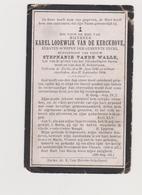 Van De Kerckhove Van De Walle Schepen Eecke Eke - Images Religieuses