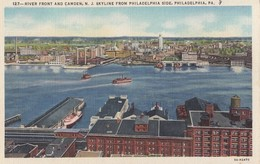 Camden NJ - Skyline Seen From Philadelphia PA - Camden