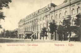 Georgia Russia, TBILISI TIFLIS, Club Artistique (1899) Postcard - Géorgie