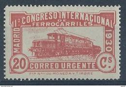 ES482SF-L4219FTEXSC.España.Spain.Espagne.TREN. Locomotora COCODRILO.CONGRESO  DE.FERROCARRILES.1930  (Ed 482F**) - Ohne Zuordnung