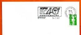 BMP 507 BUREAU POSTAL MILITAIRE   1991 Lettre Entière N° MN 456 - Marcophilie (Lettres)