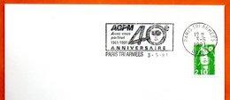 PARIS TRI ARMEES   AGPM    1991 Lettre Entière N° MN 457 - Marcophilie (Lettres)