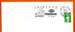 37 LA RICHE   NATURE  1991 Lettre Entière N° MN 458 - Marcophilie (Lettres)