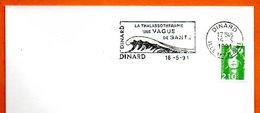 DINARD  LA THALASSOTHERAPIE  1991 Lettre Entière N° MN 459 - Marcophilie (Lettres)