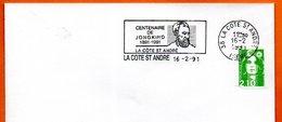 38 LA COTE DT ANDRE   JONGKIND  1992 Lettre Entière N° MN 464 - Marcophilie (Lettres)