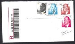 Espagne 4 Valeurs Série Courante à Faciale Euro,Juan Carlos I S/lettre Recommandé - 1931-Aujourd'hui: II. République - ....Juan Carlos I