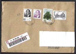 Espagne Yv 3424+3723 Série Courante,Juan Carlos I +3726 Flore Arbre+3764 Château S/lettre Recommandé 2007 - 1931-Aujourd'hui: II. République - ....Juan Carlos I