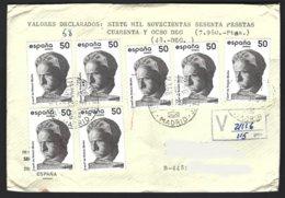 Espagne Yv 2542 X 7 Victorio Macho S/lettre Avec Valeur Déclarée 1988 - 1931-Aujourd'hui: II. République - ....Juan Carlos I