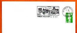 08 VIREUX MOLHAIN   TOURISME   1992 Lettre Entière N° MN 466 - Marcophilie (Lettres)