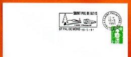 43 ST PAL DE MONS Y VIVRE  1992 Lettre Entière N° MN 470 - Marcophilie (Lettres)