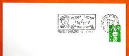 92 NEUILLY SABLONS   JACQUES PREVERT  1991 Lettre Entière N° MN 471 - Marcophilie (Lettres)