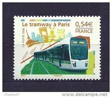 France:n°3995** Le Tramway à Paris (sous Faciale) - Ungebraucht