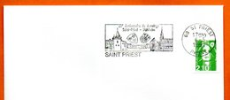69 SAINT PRIEST   JUMELAGE  1991 Lettre Entière N° MN 474 - Marcophilie (Lettres)