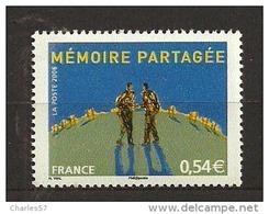France:n°3976 ** Rencontre Sur La Mémoire Combattante 'sous Faciale) - Ungebraucht