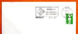14 DOZULE   SON ARTISANAT  ( Pli ) 1991 Lettre Entière N° MN 475 - Marcophilie (Lettres)